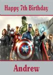 Personalised Avengers Birthday Card Design 2